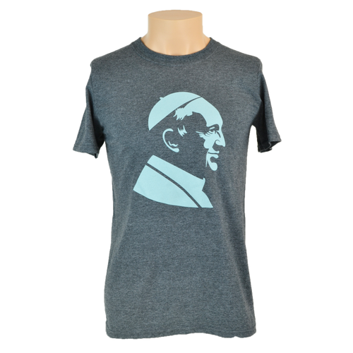 Pope Francis T-Shirt, Heather Grey