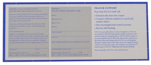 Varsity Catholic Commitment Card - 50 Pack