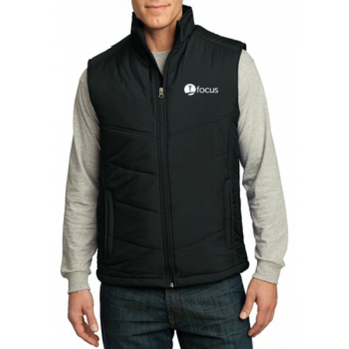 Men's Port Authority Puffy Vest, Black