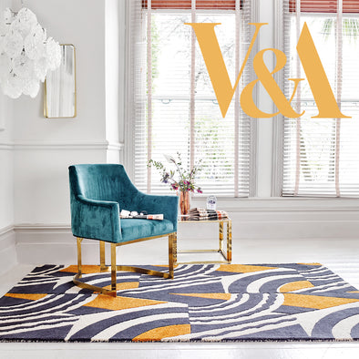 Art Deco Rugs Inspired By The Renowned V&A Textile Archives