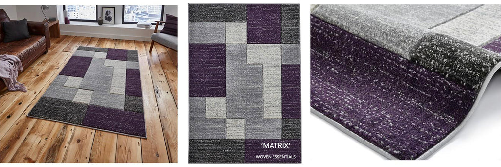 Matrix Purple Rug - Woven Essentials