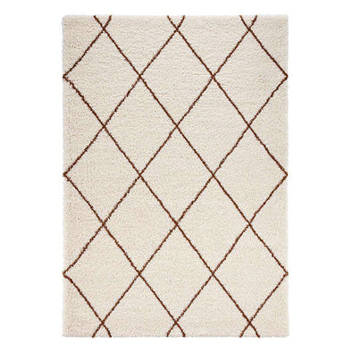 Design Verlours Deep Pile Carpet Archer Feel Cream Brown