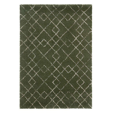 Design Verlours Deep Pile Carpet Archer Green
