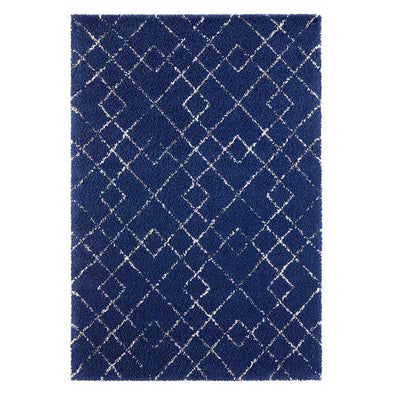 Design Verlours Deep Pile Carpet Archer Blue