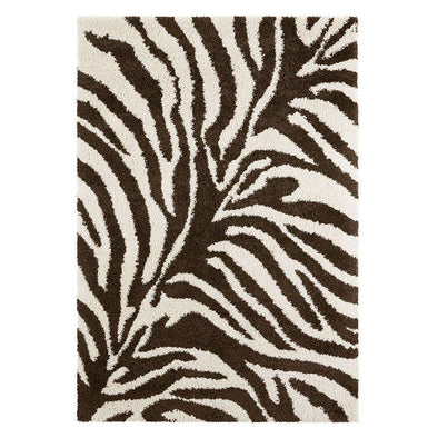Design Verlours Deep Pile Carpet Desert Brown Cream