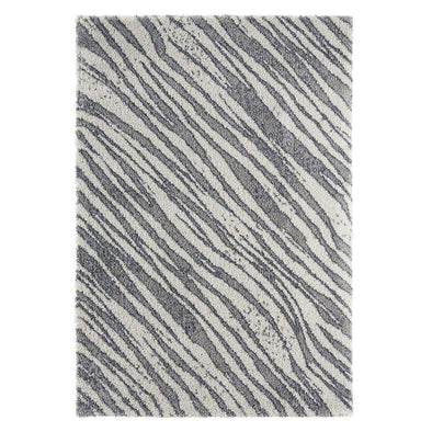 Design Verlours Deep Pile Carpet Life Grey Cream
