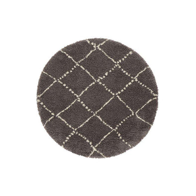 Design Verlours Deep Pile Carpet Hash Cream Circle