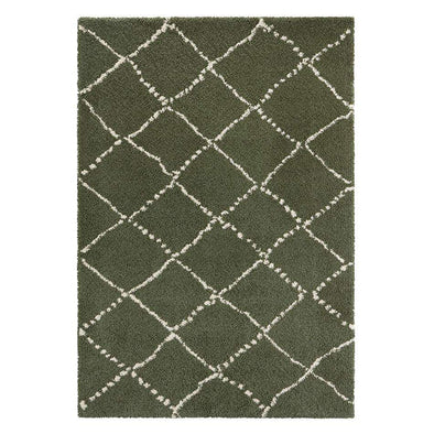 Design Verlours Deep Pile Carpet Hash Olive Green