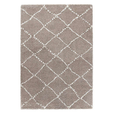 Design Verlours Deep Pile Carpet Hash Beige Cream