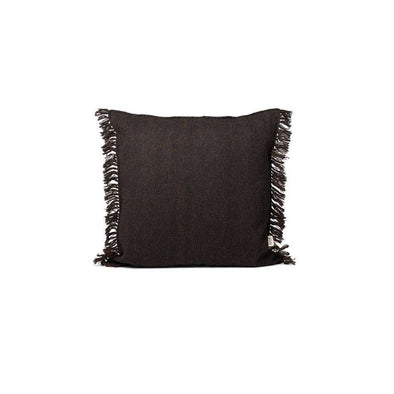 Kelim Fringe Cushion Dark Melange