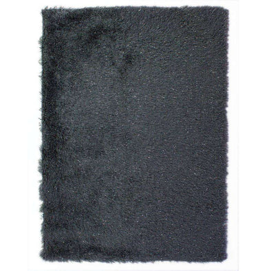 Dazzle Charcoal Plain Shaggy Rug
