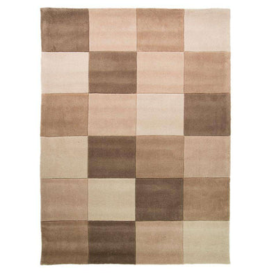 Infinite Squared Natural Polyester Rug