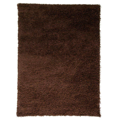 Nordic Cariboo Brown Plain Shaggy Rug