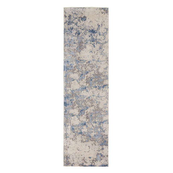 Silky Textures SLY04 Blue Ivory Grey Runner