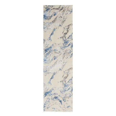 Silky Textures SLY03 Blue Ivory Runner