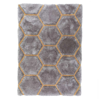 Verge Honeycomb Grey/ Ochre Rug