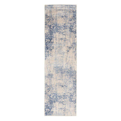 Silky Textures SLY01 Ivory Blue Runner