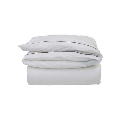 Hotel Percale White/ Blue Duvet