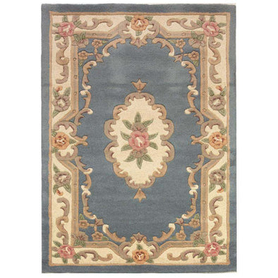 Lotus Premium Dynasty Wool Aubusson Blue Rug