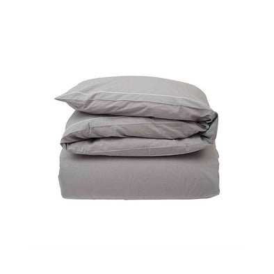 Hotel Percale Grey/ White Duvet