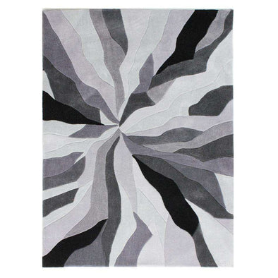Infinite Splinter Grey Abstract Rug