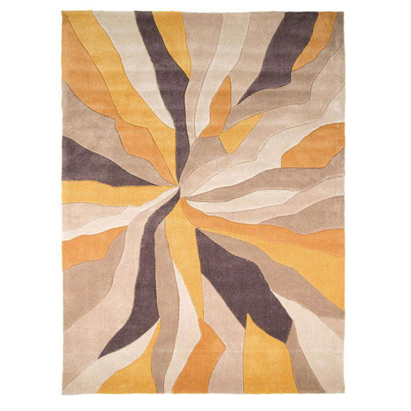 Infinite Splinter Ochre Abstract Rug