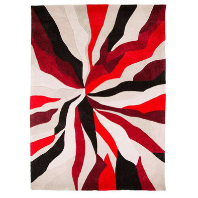 Infinite Splinter Red Abstract Rug