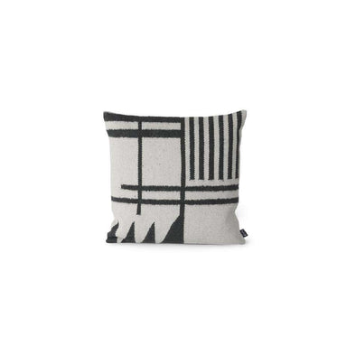 Kelim Cushion Black Lines