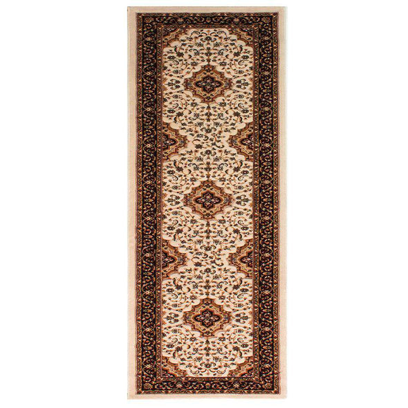 Ottoman Temple Cream Traditional Runner