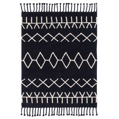 Washable Rug Bereber Black