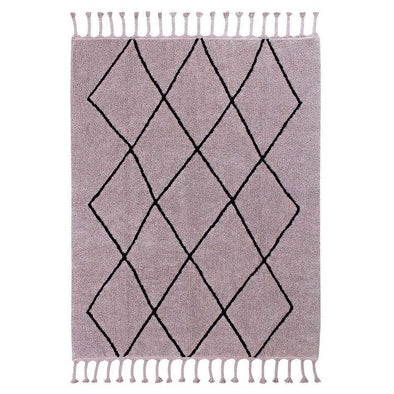 Washable Rug Bereber Wood Rose