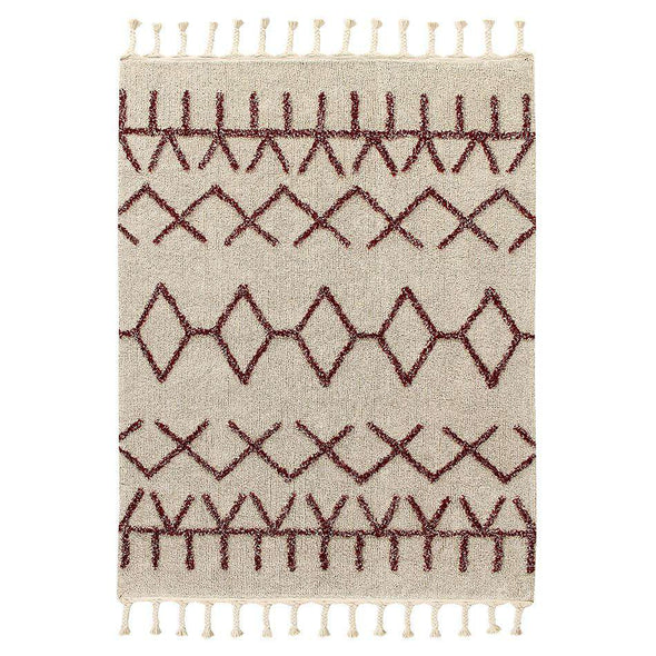 Washable Rug Bereber Burgundy