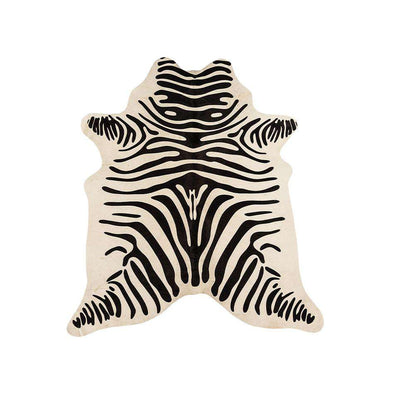 Rodeo Cowhide Zebra White