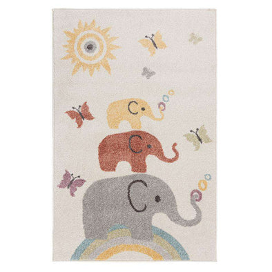 Bambino Elephants Cream Multi Rug