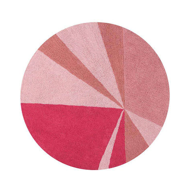 Washable Rug Geometric Pink