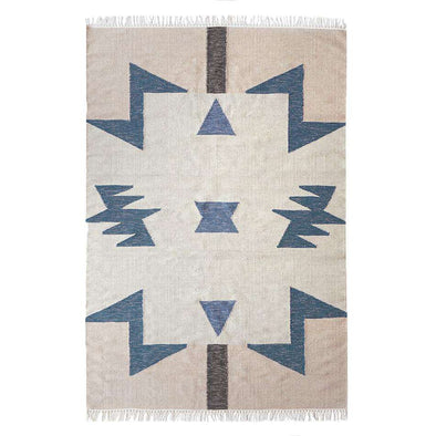 Kelim Blue Triangles Rug