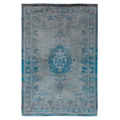 Fading World Medallion 8255 Grey Turquoise Rugs