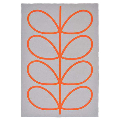 Giant Linear Stem 460603 Persimmon Outdoor Rug
