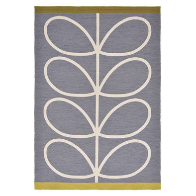 Giant Linear Stem 460605 Slate Outdoor Rug