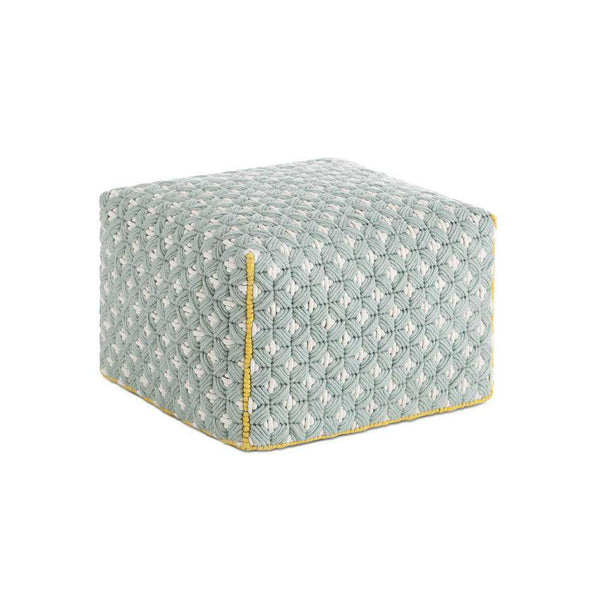 Silai Small Pouf Blue