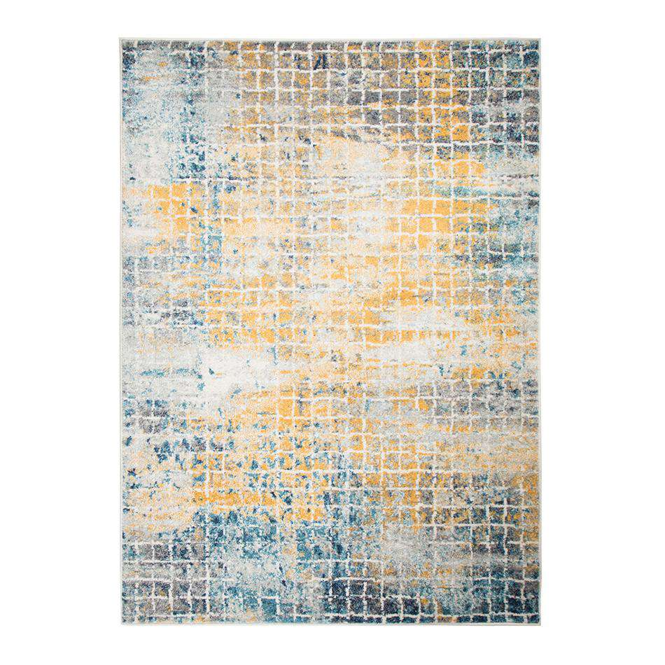 Urban Abstract Blue Multi Rug
