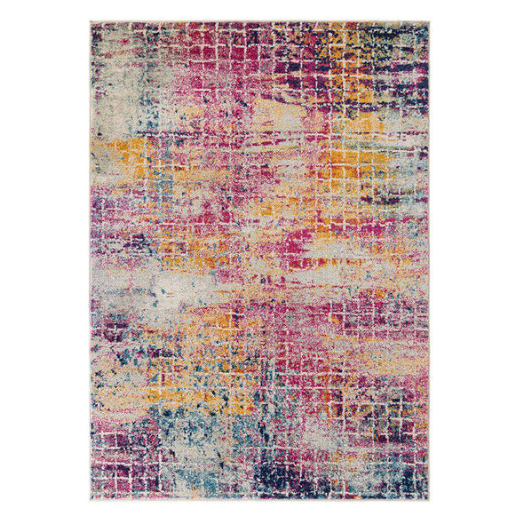 Urban Abstract Pink/ Multi Rug