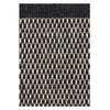 Black Asko rug by Linie Design