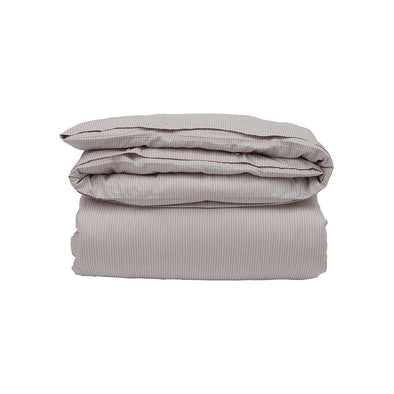Hotel Tencel Stripe Light Beige/ White Duvet