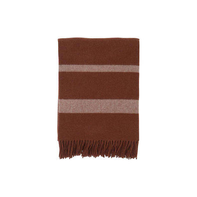 Hotel Wool Throw Chestnut/ White