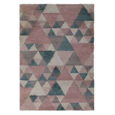 Dakari Nuru Blush Pink/ Cream/ Blue Rug