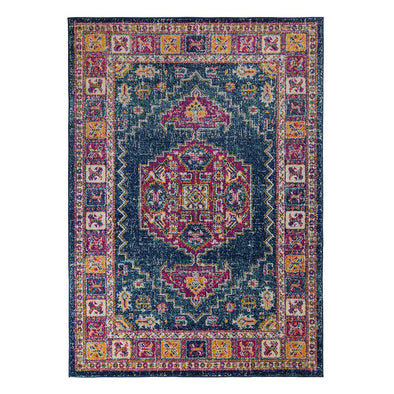 Urban Traditional Blue Multi Rug