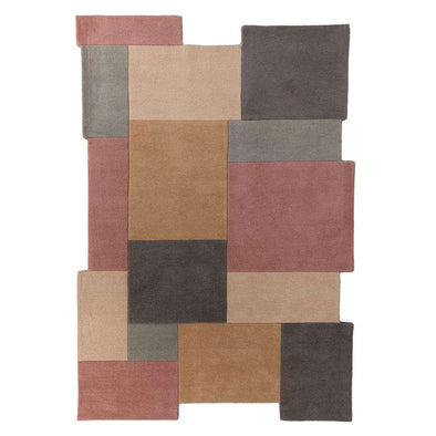 Abstract Collage Pastel Rug