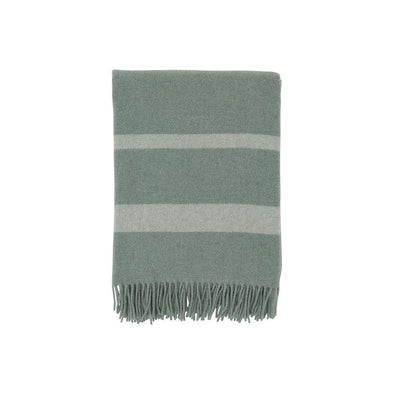 Hotel Wool Throw Green/ White