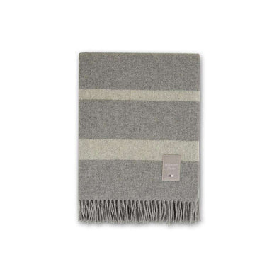Hotel Wool Throw Grey/White